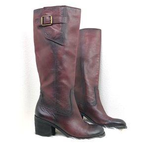 Lucky Brand Juneau Oxblood Riding Boots